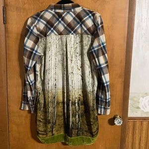 Aratta Silent Journey Into The Woods Flannel Sz L
